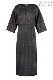 Oliver Bonas Rainbow Sparkle Black Maxi Dress