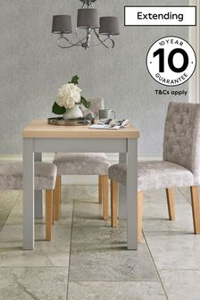 Dove Grey Malvern 4-6 Seater Square To Rectangle Dining Table