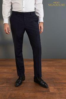 Blue Trousers Slim Fit Signature Check Suit: Jacket