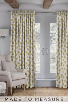 Darnley Sunflower Yellow Made To Measure Curtains