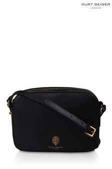 Kurt Geiger London Black Leather Richmond Cross Body Bag