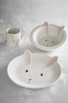 Children's 3 Piece Ceramic Dinner Set