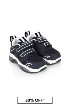 حذاء رياضي ولادي أزرق داكن