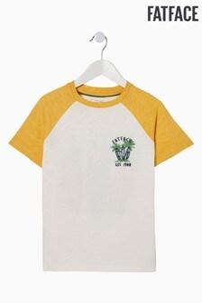 FatFace Natural Surf Board Graphic T-Shirt
