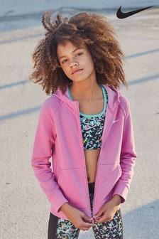 Nike Sportswear Pink Zip Through Hoody