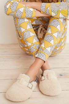 Scion at Next Cream Fox Character Slippers