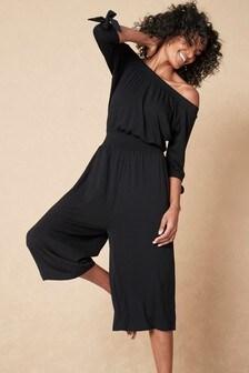 Black Bardot Jumpsuit