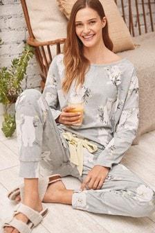 Grey Bears Cotton Blend Pyjamas