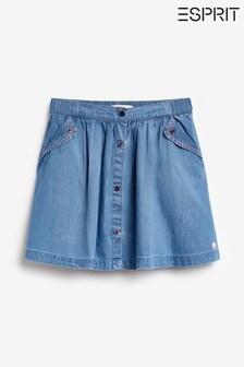 Esprit Blue Button Denim Skirt