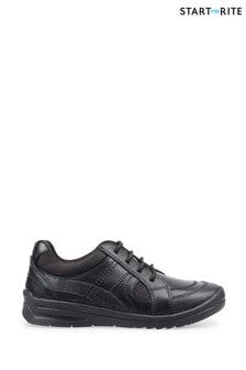 Start-Rite Black Yo Yo Leather School Shoes