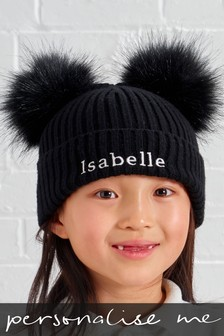 Personalised Double Pom Pom Beanie