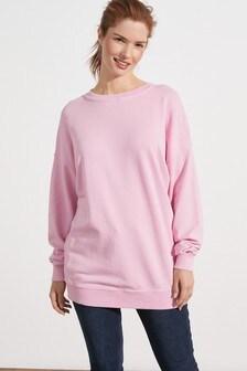 Pink Longline Sweatshirt