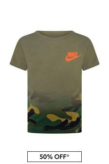 Boys Khaki Camo Jersey T-Shirt