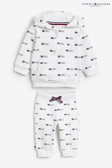 Tommy Hilfiger Baby White Cotton Tracksuit