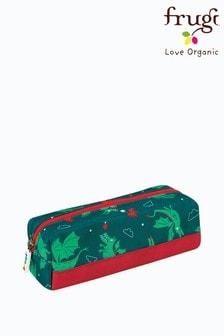 Frugi Green Recycled Dragon Print Pencil Case