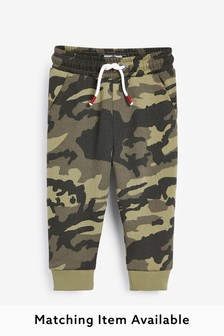 Khaki Camo Joggers Soft Touch Jersey (3mths-7yrs)