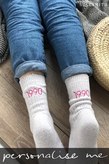 Personalised Embroidered Socks by Solesmith