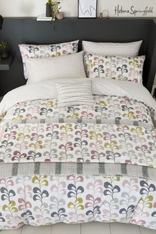 Helena Springfield Liv Retro Geo Floral Duvet Cover and Pillowcase Set