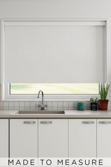 Crackle Powder White Made To Measure Roller Blind