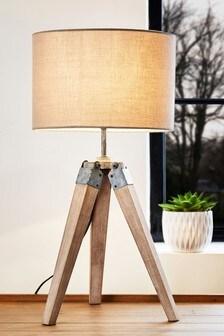 Grey Alpine Table Lamp