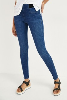 Mid Blue Lift, Slim And Shape Denim Leggings