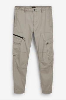 Elasticated Cargo Trousers