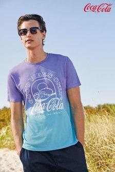 Purple/Aqua Coca Cola® Licence T-Shirt