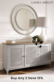 Hanover Pale French Grey 3 Door Sideboard by Laura Ashley