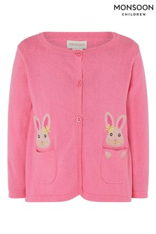 Monsoon Pink Baby Bunny Cardigan