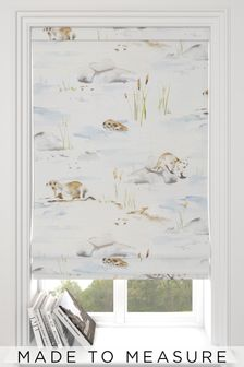 Wildlife Biscuit Natural Made To Measure Roman Blind