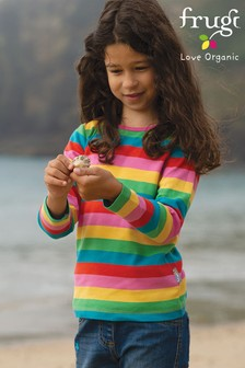 Frugi Organic Cotton Rainbow Stripe Long Sleeve Top