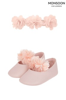 Monsoon Baby Macaroon Bootie And Bando Set