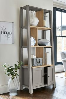 Malvern Dove Grey Storage Ladder Shelf
