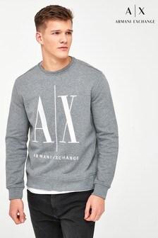 Armani Exchange Grey Icon Logo Sweat Top