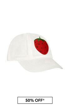 قبعة قطن لون كريم بناتي