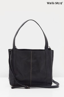 White Stuff Navy Hannah Eco Leather Tote Bag