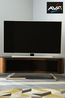 Brown AVF Bay 1500 Curved TV Stand