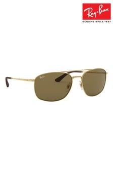 Ray-Ban® Gold ORB3654 Sunglasses