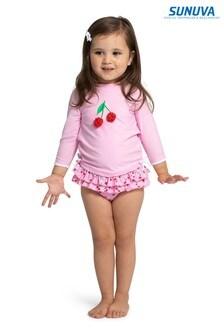 Sunuva Pink Cherries Rash Vest