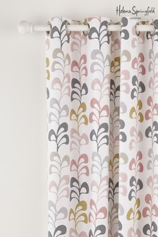 Helena Springfield Liv Retro Geo Floral Lined Eyelet Curtains