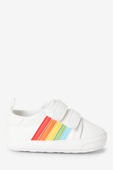 White Rainbow Pram Trainers (0-24mths)