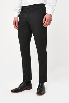 Black Slim Fit Trousers With Stretch
