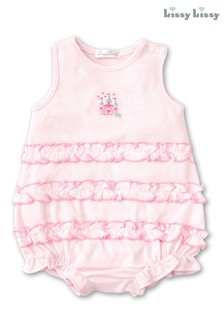 Kissy Kissy Pink Unicorn Castle Bubble Romper