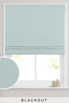 Cotton Blackout Roman Blind