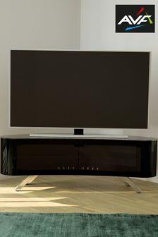 Black AVF Bay 1500 Curved TV Stand