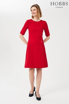 Hobbs Petite Red Anela Dress