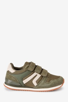 Khaki Strap Touch Fastening Trainers (Older)