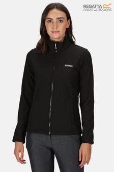 Regatta Black Connie V Full Zip Softshell Jacket
