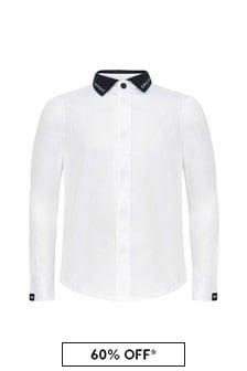 قميص أبيض أولادي منEmporio Armani