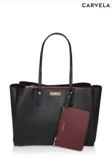 Carvela Black Freya Triple Compart Tote Bag
